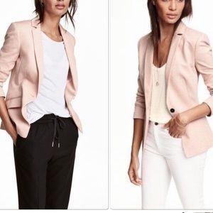 Blush button blazer
